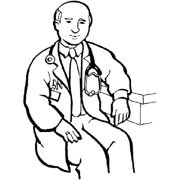 600x600 Doctor Coloring Pages Coloring Pages Doctor Hospital Male Doctor