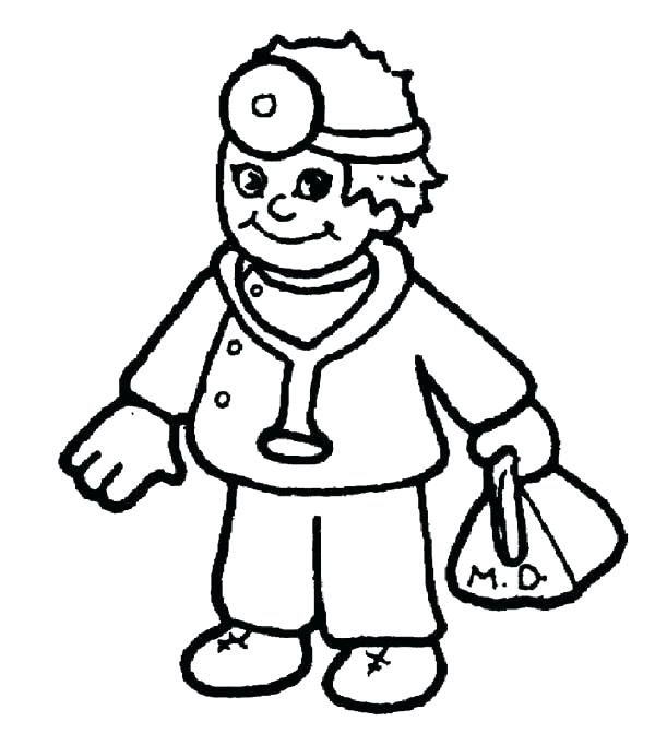 600x682 Hospital Coloring Pages Doctor Coloring Sheets Cartoon Hospital