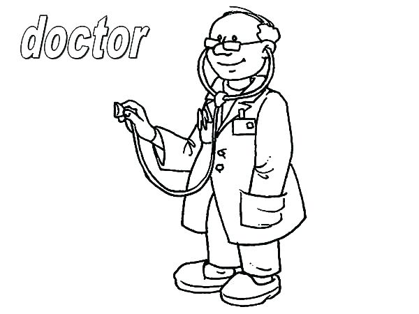 600x450 Hospital Coloring Pages Hospital Coloring Pages Doctor On Jobs