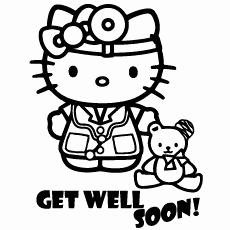 230x230 Top Free Printable Get Well Soon Coloring Pages Line Hospital