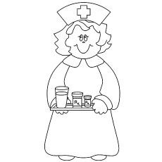230x230 Top Free Printable Nurse Coloring Pages Online