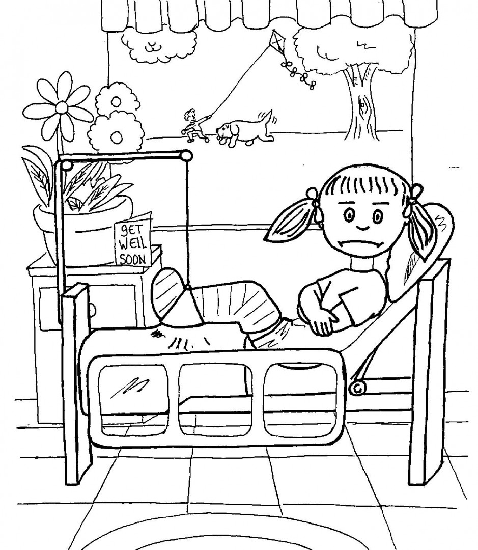 939x1080 Hospital Coloring Pages For Kids Printable Just Colorings