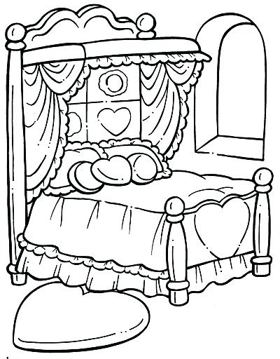 400x512 Bed Coloring Page Coloring Page Bed Objects Printable Coloring