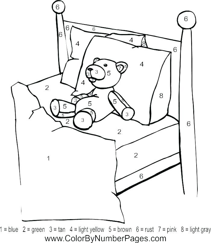 700x806 Bed Coloring Pages Hospital Bed Free Printable First Aid