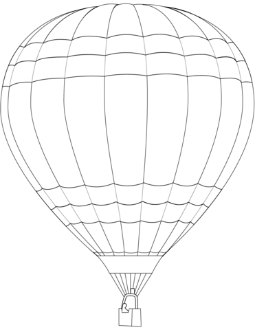 371x480 Hot Air Balloon Coloring Page