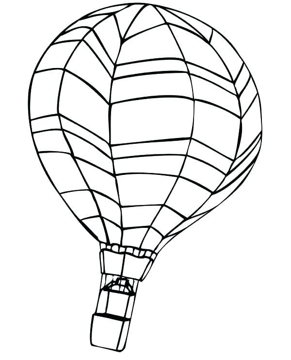 600x741 Hot Air Balloon Coloring Page Hot Air Balloons Hot Air Balloon