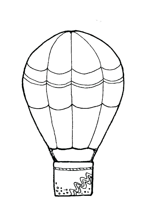 600x891 Hot Air Balloon Colouring Pages Printable Hot Air Balloon Coloring