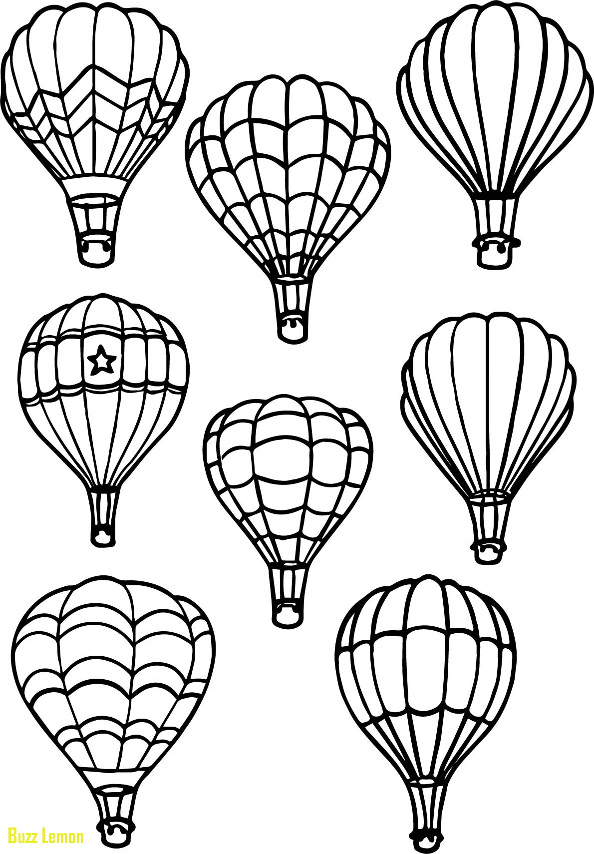 1190x1710 Coloring Page Hot Air Balloon Awesome All Air Balloon Coloring
