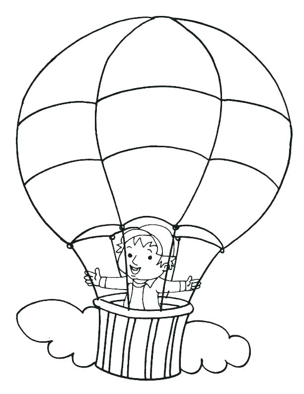 612x792 Coloring Pages Of Balloons Hot Air Balloon Coloring Pages Balloon
