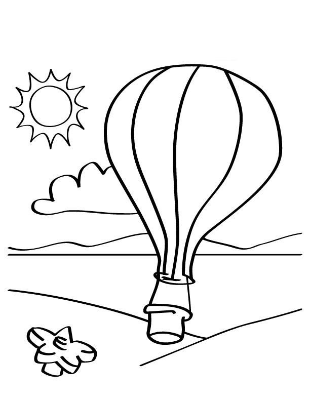 612x792 Free Printable Hot Air Balloon Coloring Pages For Kids Alauna