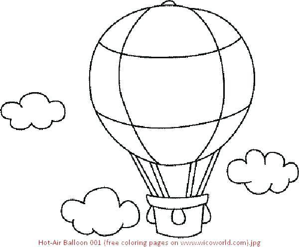 600x496 Hot Air Balloon Coloring Hot Air Balloon Coloring Book Learn