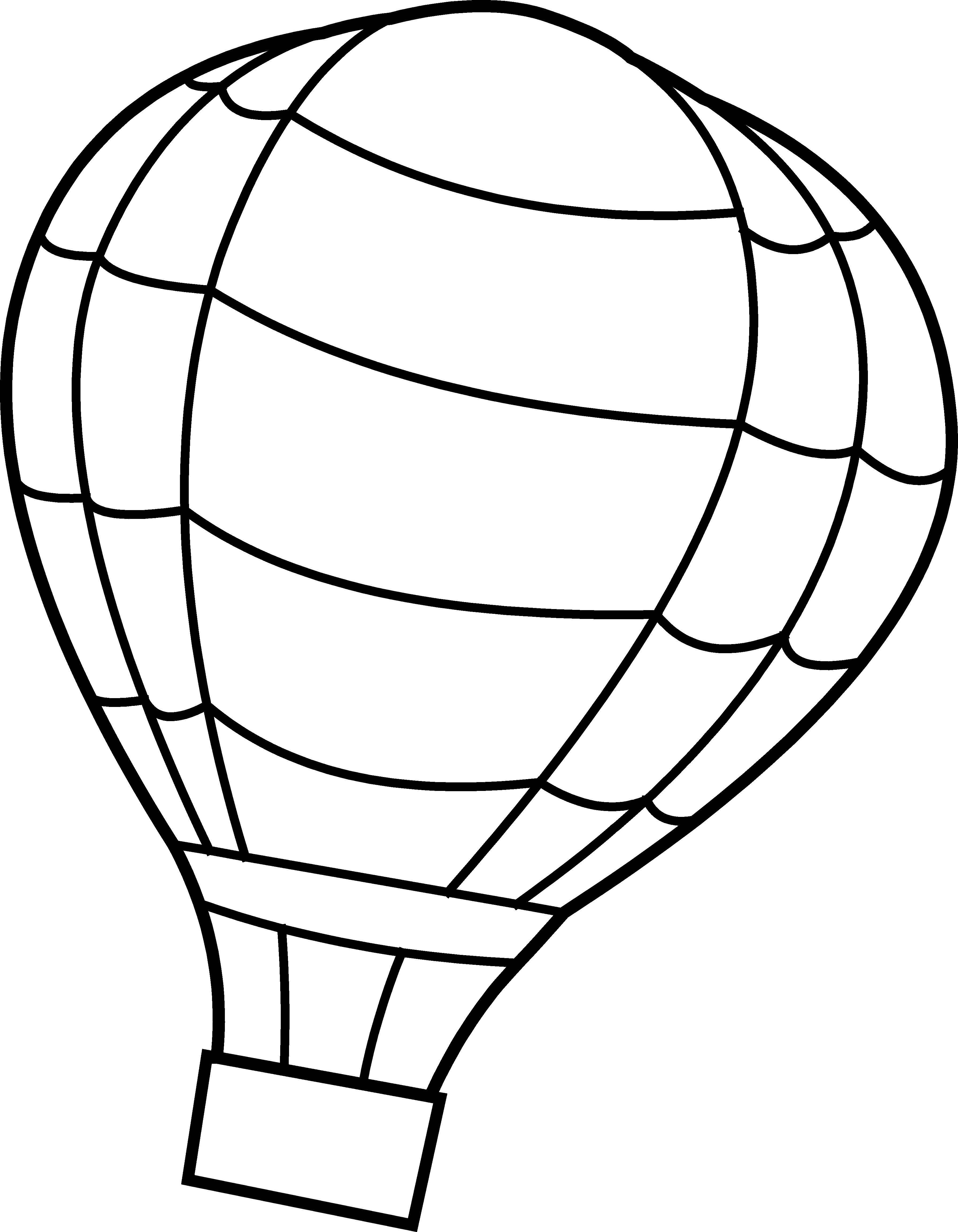 3583x4606 Hot Air Balloon Coloring Pages