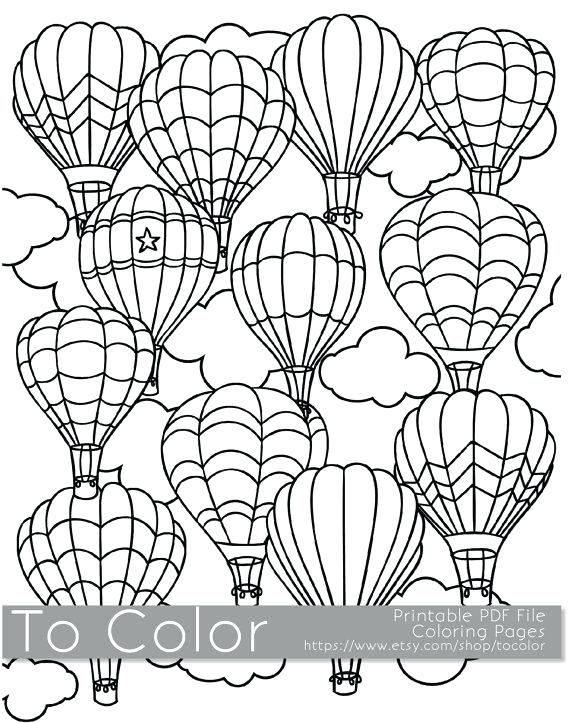 570x723 Hot Air Balloon Coloring Pages Balloon Coloring Pages Drawing Hot