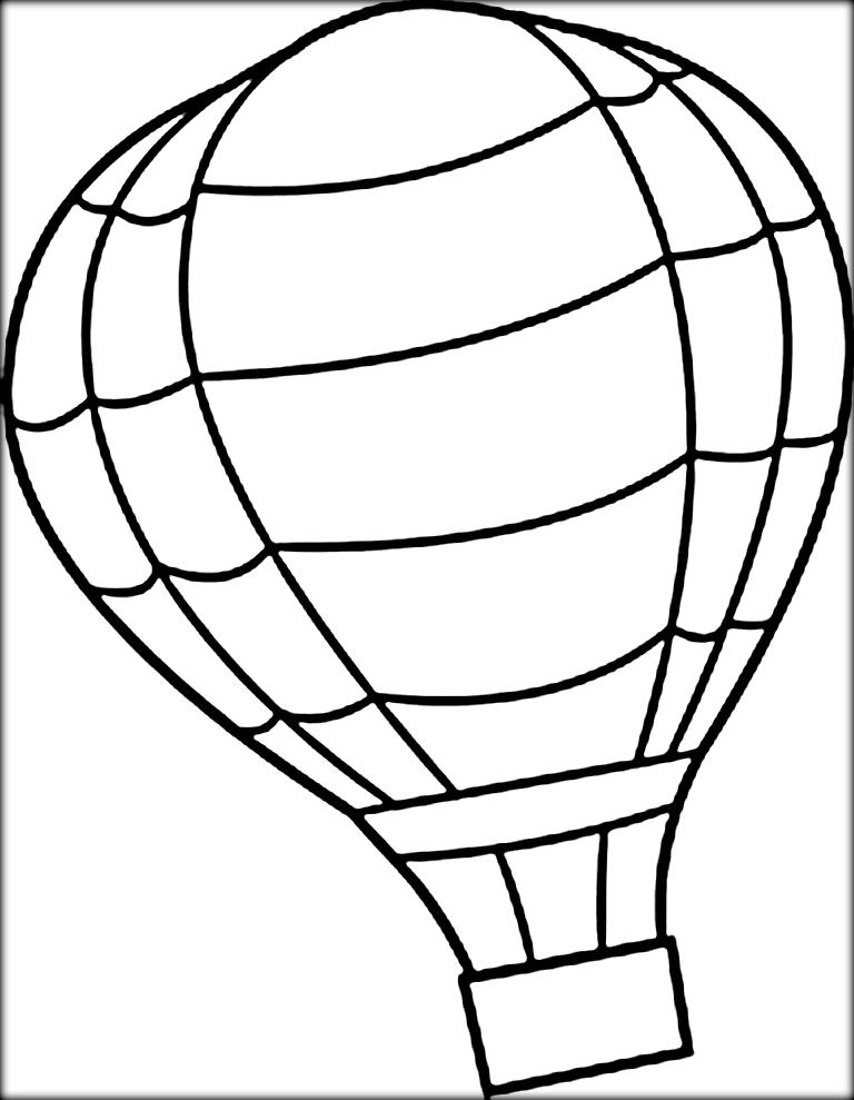768x989 Hot Air Balloon Coloring Pages Free Printable Bltidm Hot Air