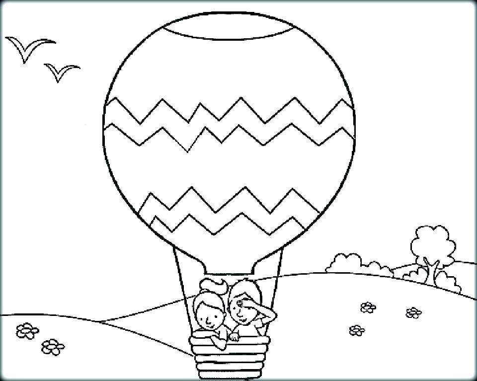 960x767 Hot Air Balloon Coloring Pages Hot Air Balloons Hot Air Balloon