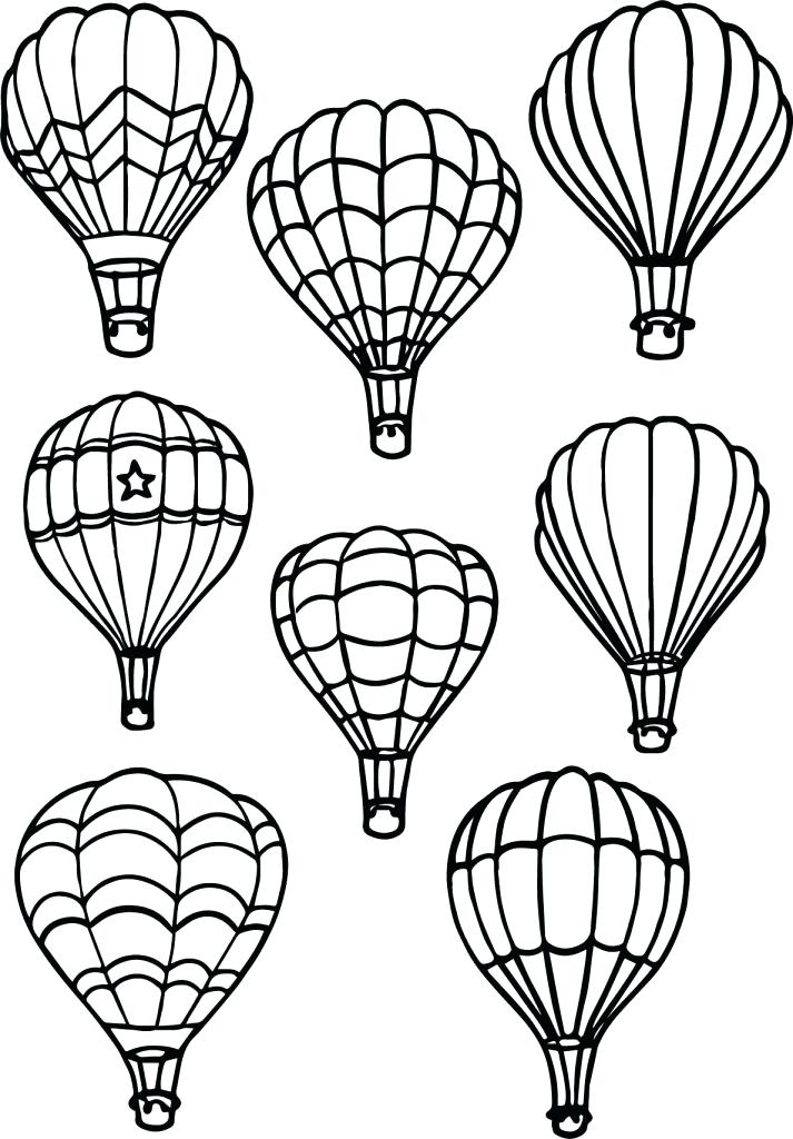 713x1024 Hot Air Balloon Writing Template Printable Kids Coloring Balloon