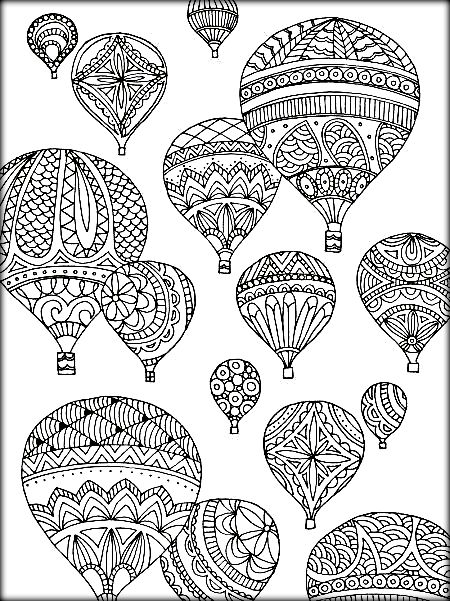 450x601 Mandala Hot Air Balloon Coloring Sheets
