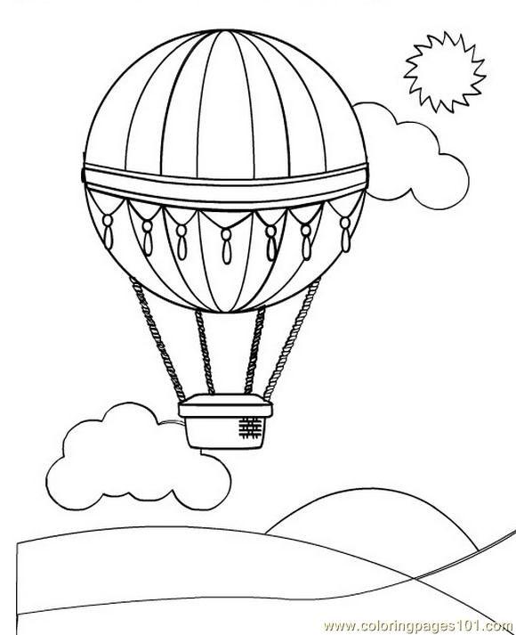 580x713 Free Printable Coloring Image Hot Air Balloon