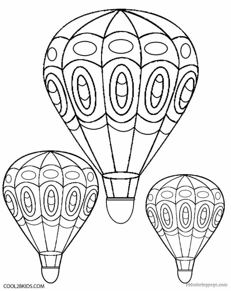 Hot Air Balloon Coloring Pages Free Printable At Getdrawings Free Download
