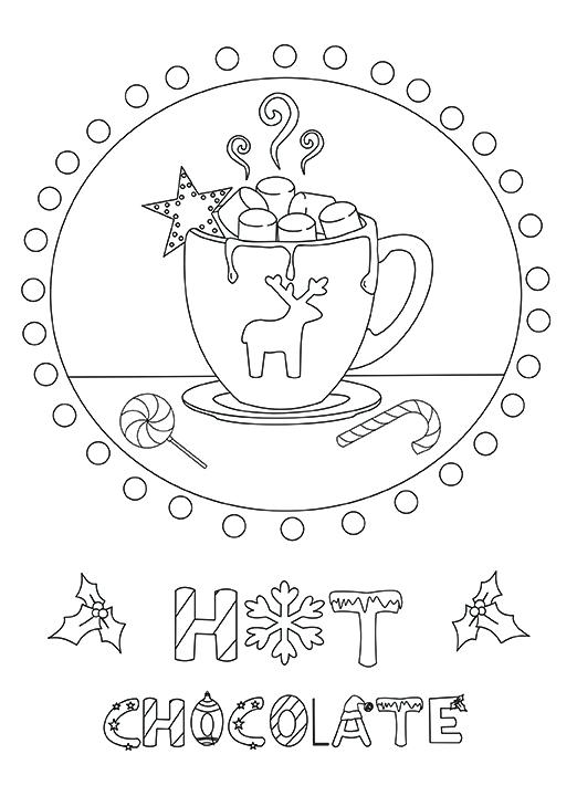 522x720 Hot Chocolate Coloring Page Hot Chocolate Coloring Page Chocolate
