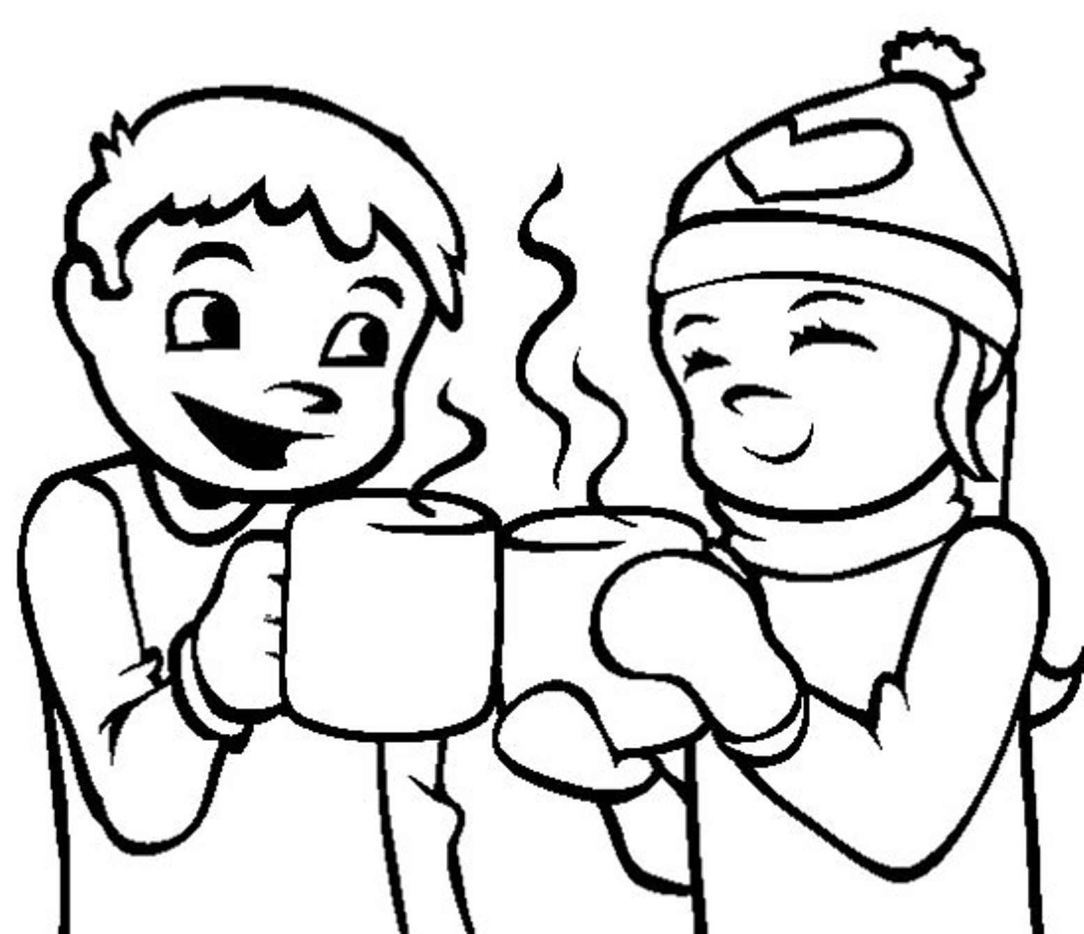 1555x1340 Coloring Pages Winter Hot Chocolate Of Mesmerizing Page