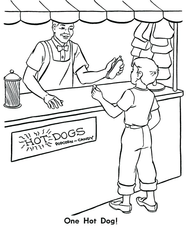 Hot Dog Coloring Page At Getdrawings Com Free For Personal Use Hot