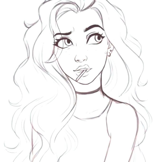 Hot Girl Coloring Pages At Getdrawings Com Free For Personal Use