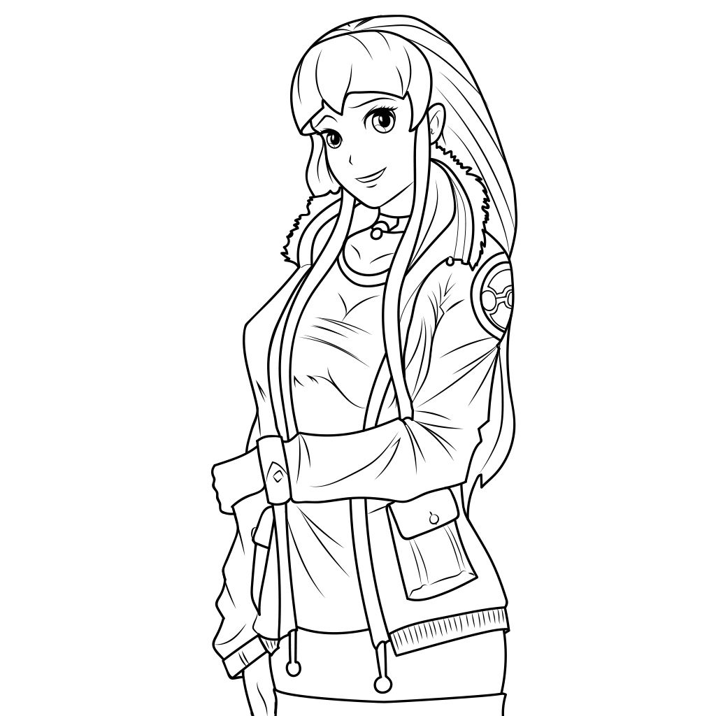 1024x1024 Hot Anime Girls Coloring Pages For Adults For Android And Ios