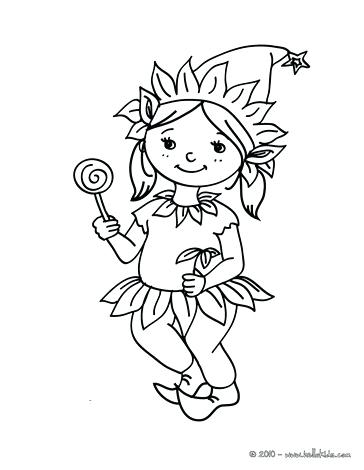 364x470 Girl Elf Coloring Pages