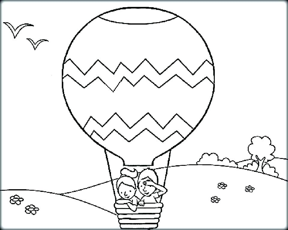 960x767 Balloon Coloring Pages Hot Air Balloon Printable Coloring Pages