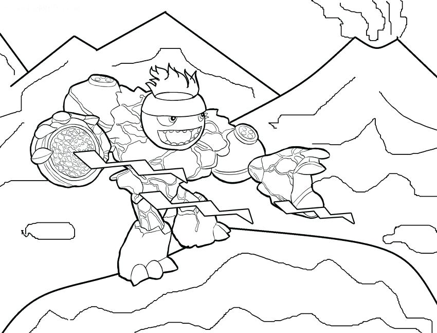 850x647 Skylanders Giants Coloring Pages Crusher Printable Books