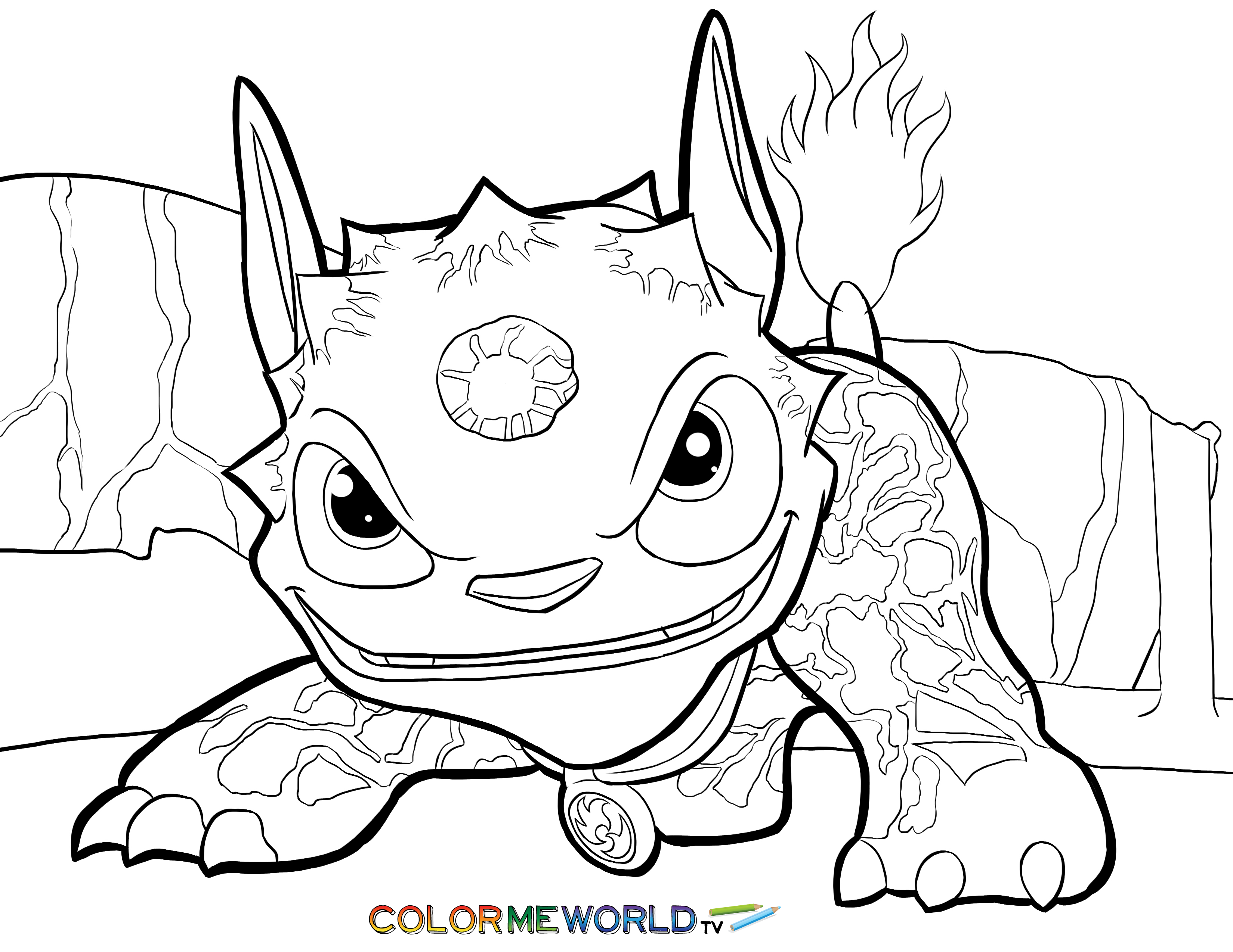 3300x2550 Skylanders Hot Dog Coloring Page Hot Dog Free Color Page, Download