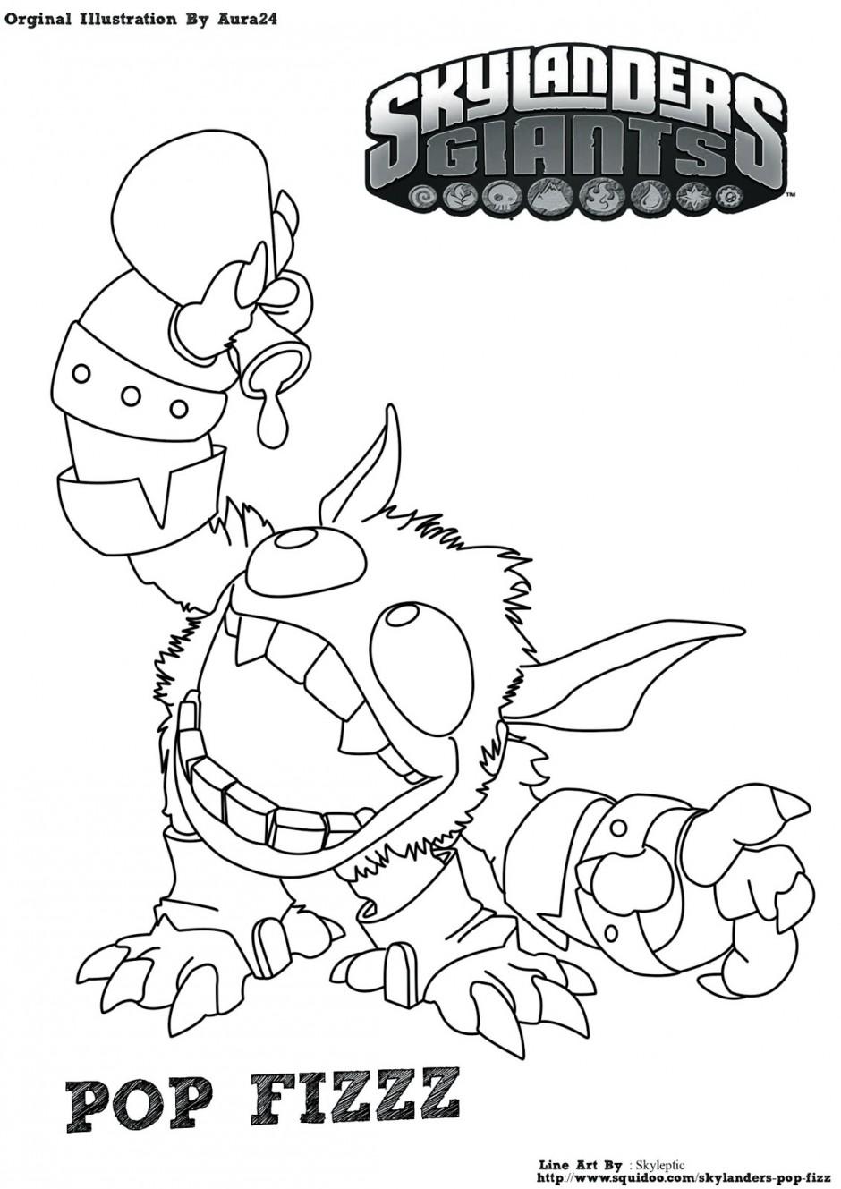 Kleurplaten Skylanders Giants Hot Dog.Hot Head Skylander Coloring Pages At Getdrawings Com Free For
