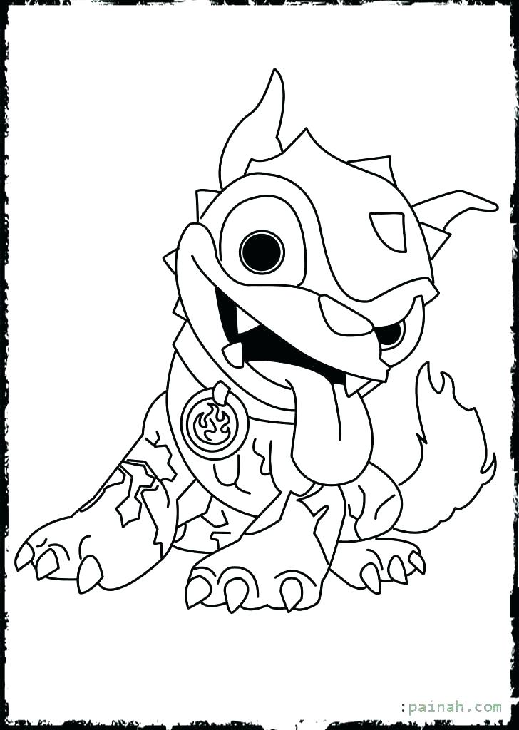 728x1024 Coloring Printable Skylanders Coloring Pages Hot Dog Trap Team