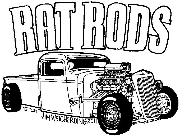 Hot Rod Coloring Pages To Print At Getdrawings Free Download