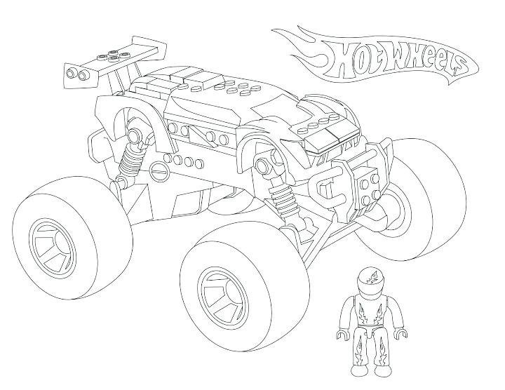 Hot Wheels Monster Truck Coloring Pages at GetDrawings.com | Free ...