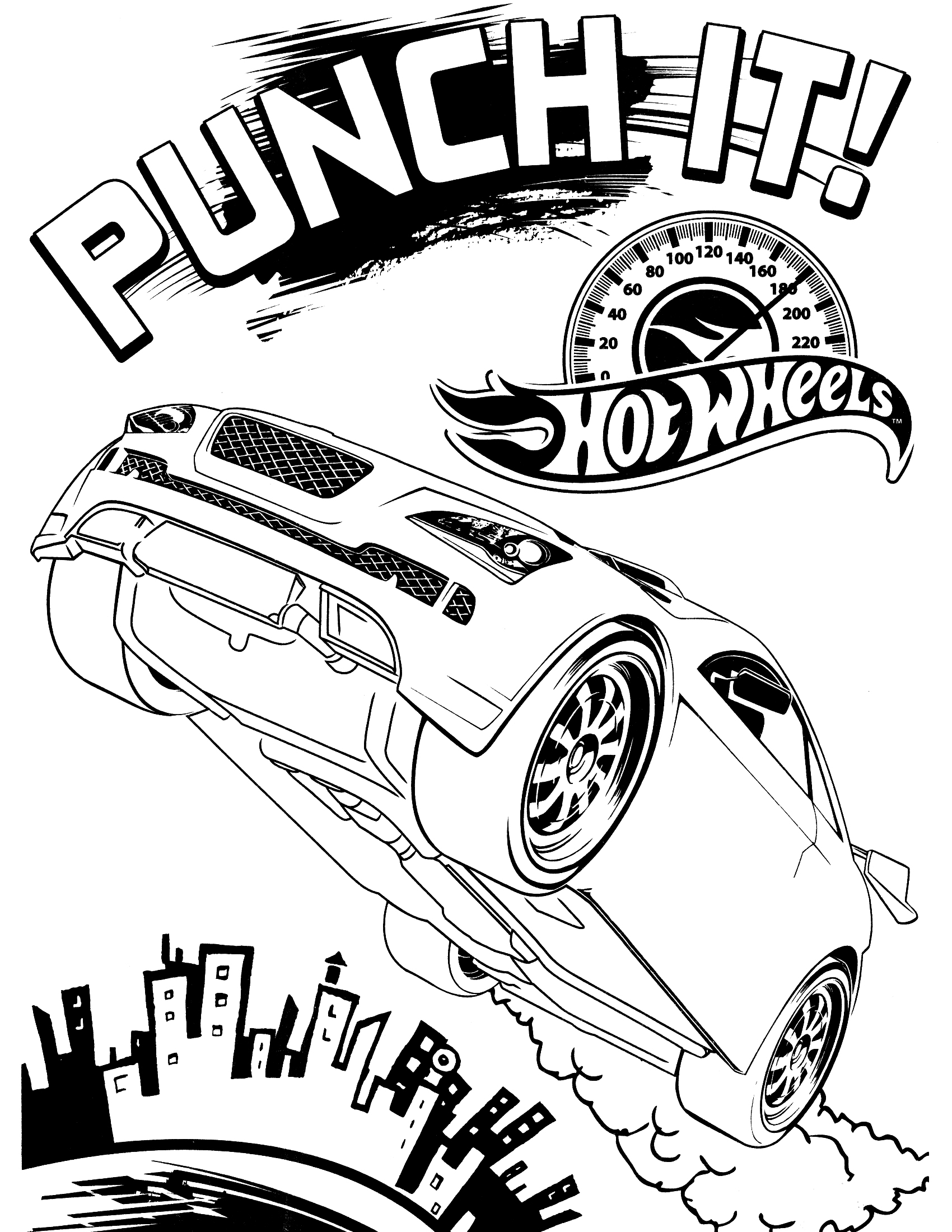 1700x2200 Cool Hot Wheels Coloring Pages Pdf Free Printable For Kids