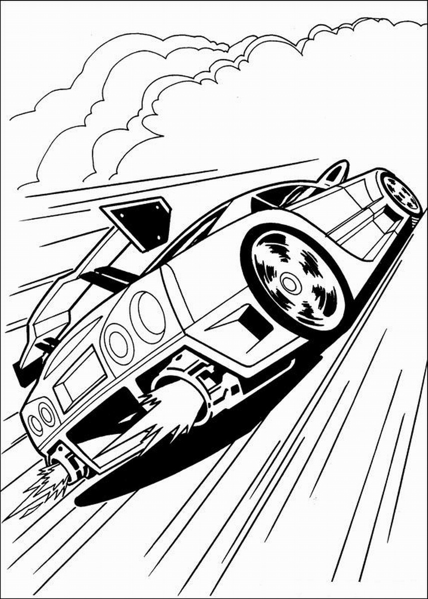 857x1200 Hot Wheels Coloring Pages