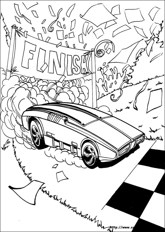 567x794 Hotwheels Coloring Pages