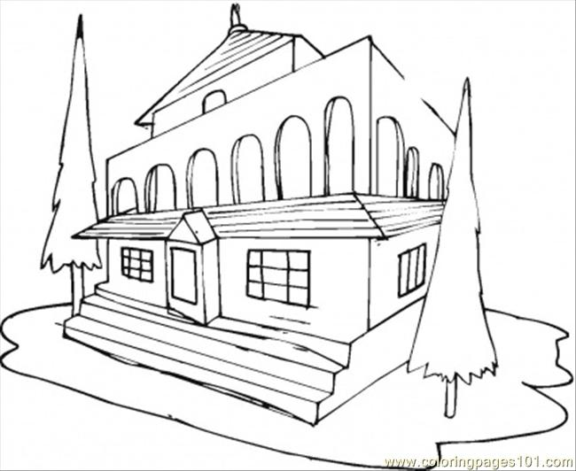 650x532 Hotel Coloring Page