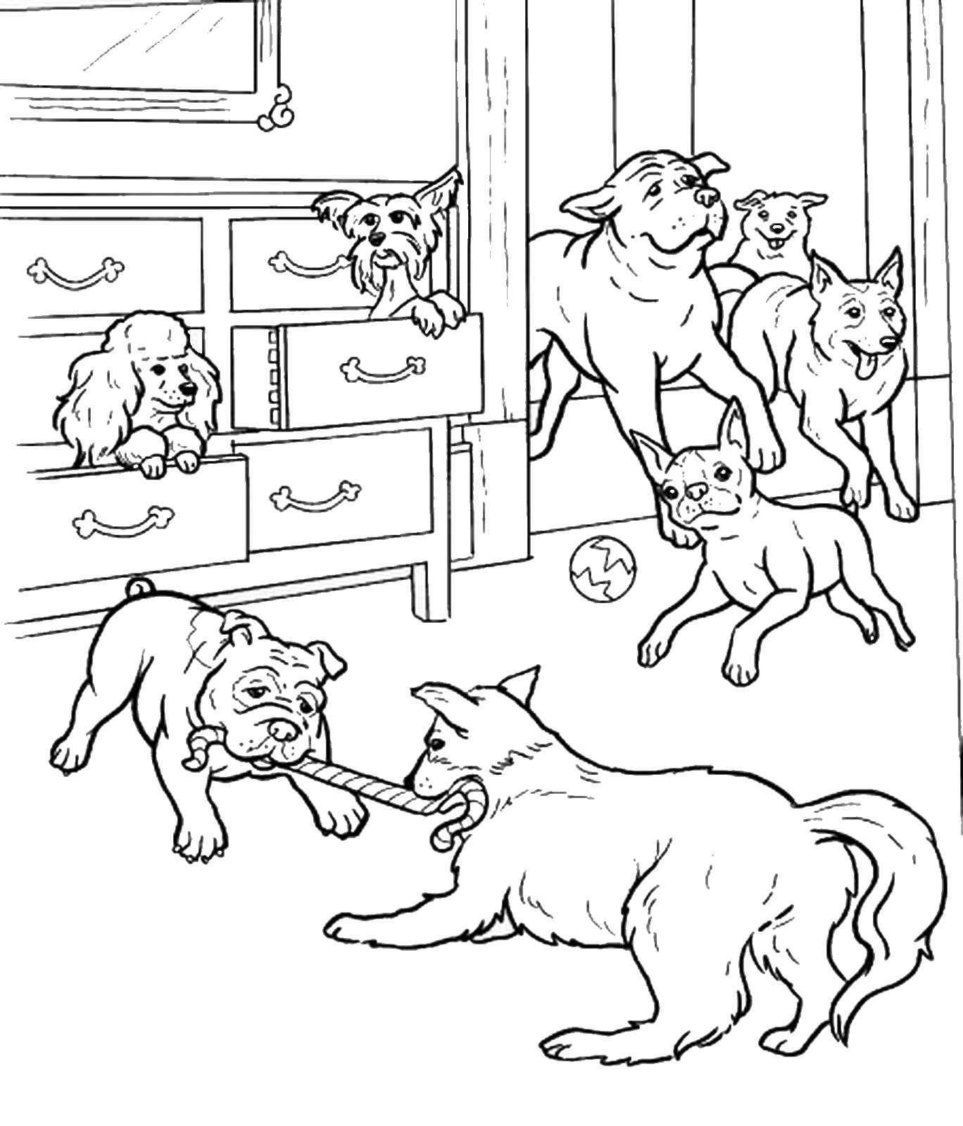 1368x1600 Hotel For Dogs Coloring Pages