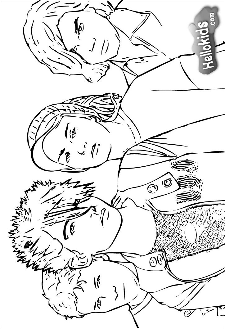 725x1060 Tokio Hotel Group Coloring Pages