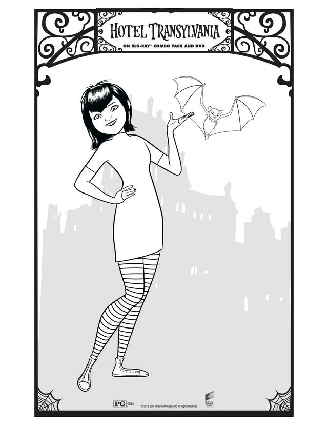 640x828 Character Coloring Activity Pages Mavis, Free Printable