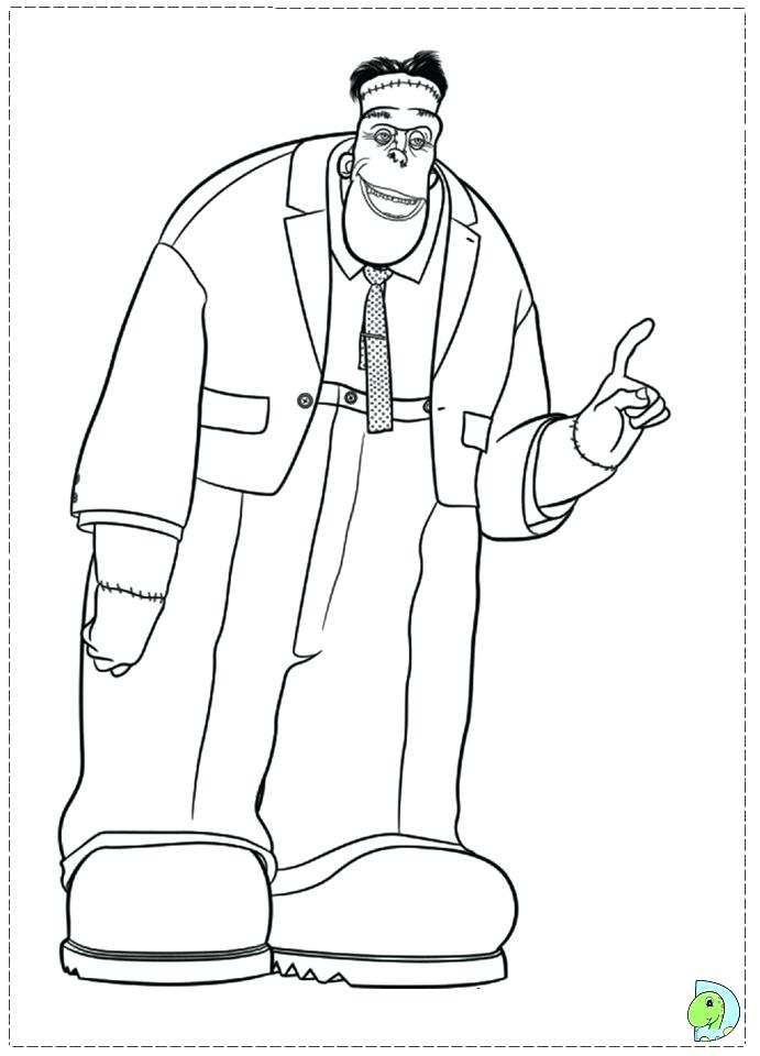 691x960 Frankenstein Coloring Page Coloring Pages Coloring Hotel Scary