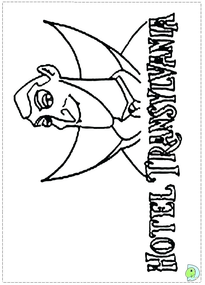 691x960 Hotel Transylvania Coloring Pages To Print Movie Colouring