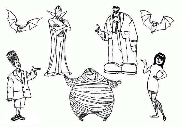 600x424 Hotel Transylvania Coloring Pages
