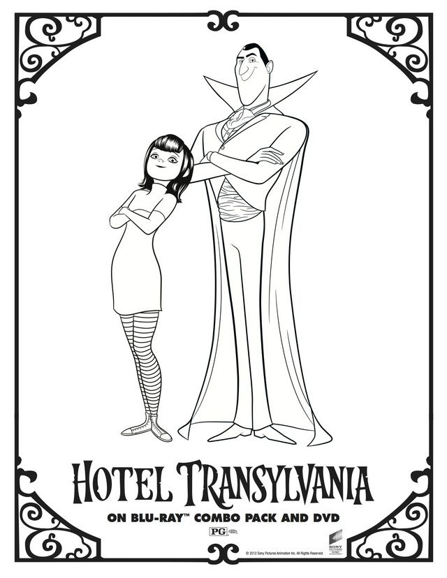 640x828 Character Coloring And Activity Pages Hotel Transylvania