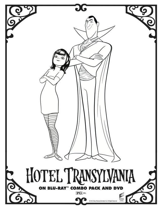 640x828 Hotel Transylvania Coloring Pages Hotel Transylvanias Dracula