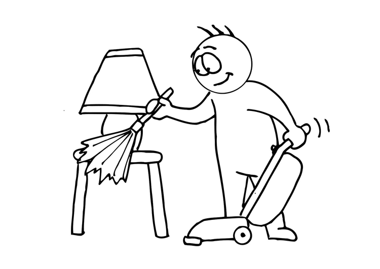 750x531 Coloring Page House Cleaning