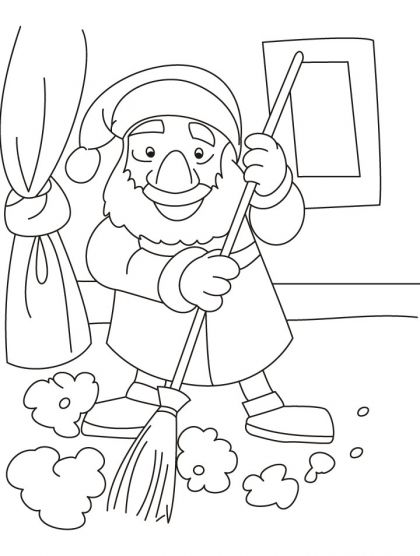 420x556 Dont Disturb It Is Time To Clean My House Coloring Pages